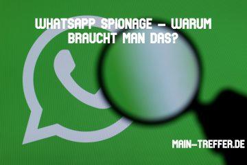 WhatsApp Spionage – Warum braucht man das?